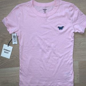 PINK SUNDAY BEST T-SHIRT [ARITZIA]